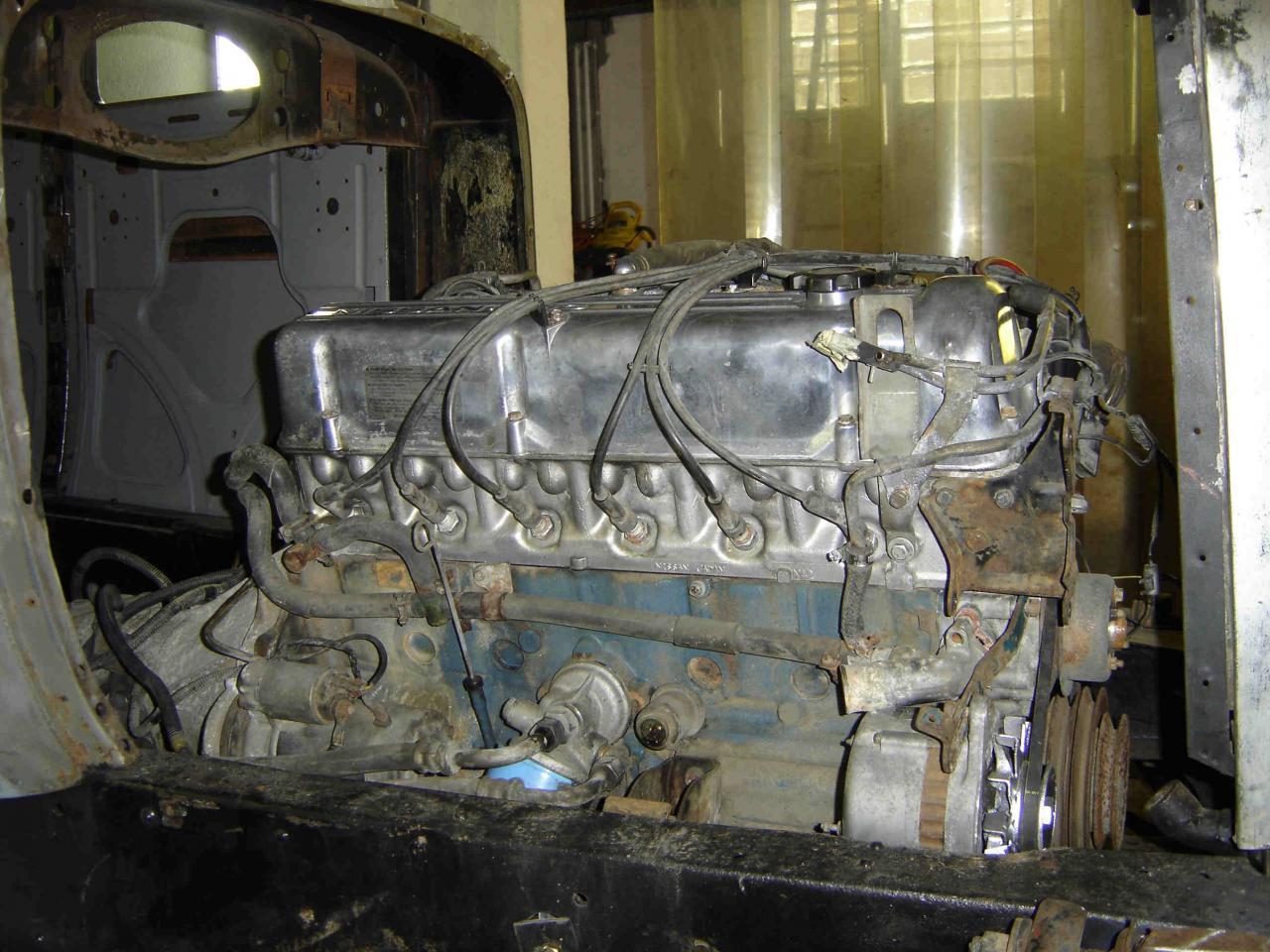 Positionnement du  moteur V6