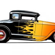 Coupe A 30/31 - flames fenders