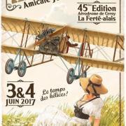 Affiche Meeting Aerien 2017 -  Cerny-la-ferte-alais (91)