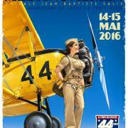 Affiche show Aérien  la Ferté Alais-2016