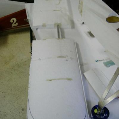 Assemblage des 2 ailes avant coffrage