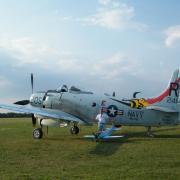 Le Skyraider  en état de vol de la collection  JB - Salis