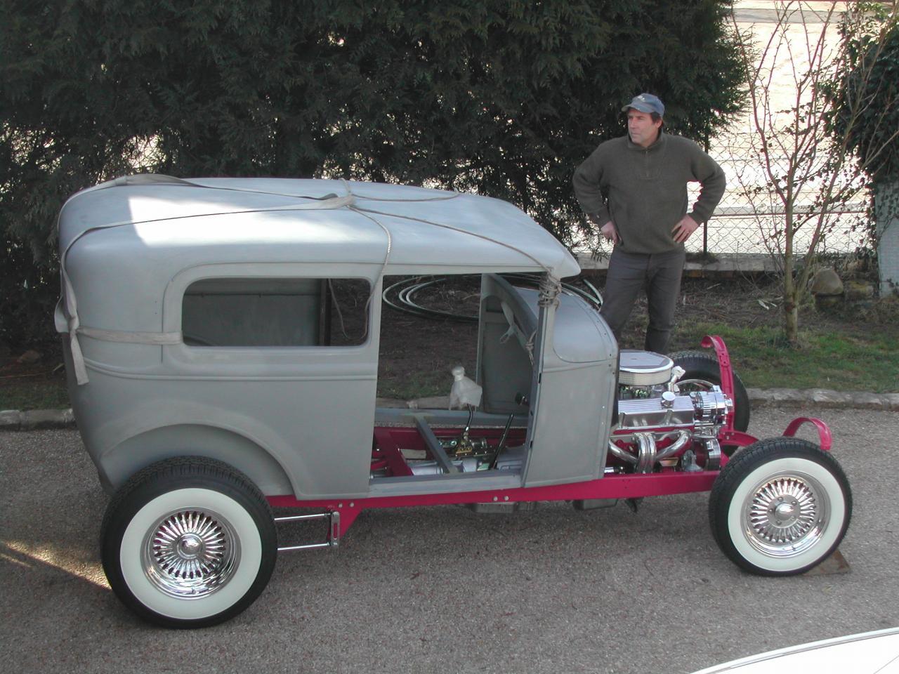 Prémontage de la carrosserie sur Chassis