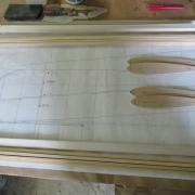 Préparation des différents longerons en samba et bords  de fuites Balsa