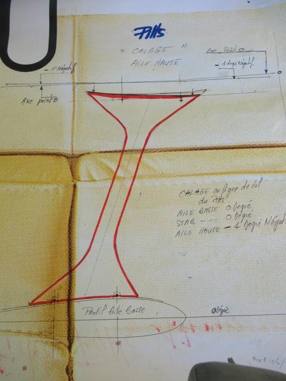 Déssin  d'incidence  pour le traçage et fabrication des mats d'ailes