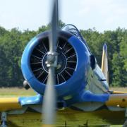 Démarrage moteur  du T6   - moteur Pratt et whitney 650 cv
