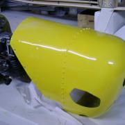 Capot moteur fibre  - Tole Offset et Rivets  aviation