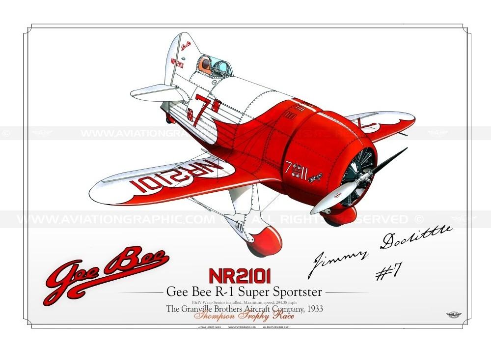 Gee Bee R2 super sportster N°7- 1932