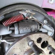 vue sur piston de frein -Tambour