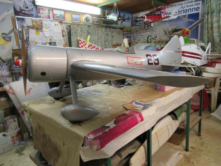 Avant du fuselage et capot moteur refait