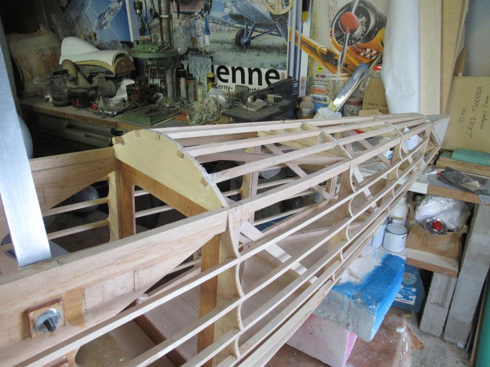 Détails  - structure arrière  du fuselage