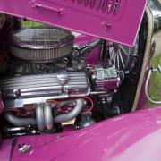 Le 350 Chevy- 5,7 l avec de nouveaux caches culbuteurs