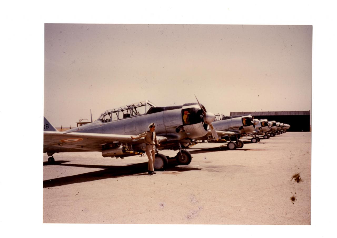 Escadrille North américan  T6 - BA.Paul Cazelles  15/72 - Algérie
