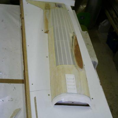 Master en cour de préparation pour fabrication du moule