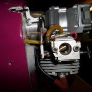 détail du renvoi d'angle tringlerie de gaz