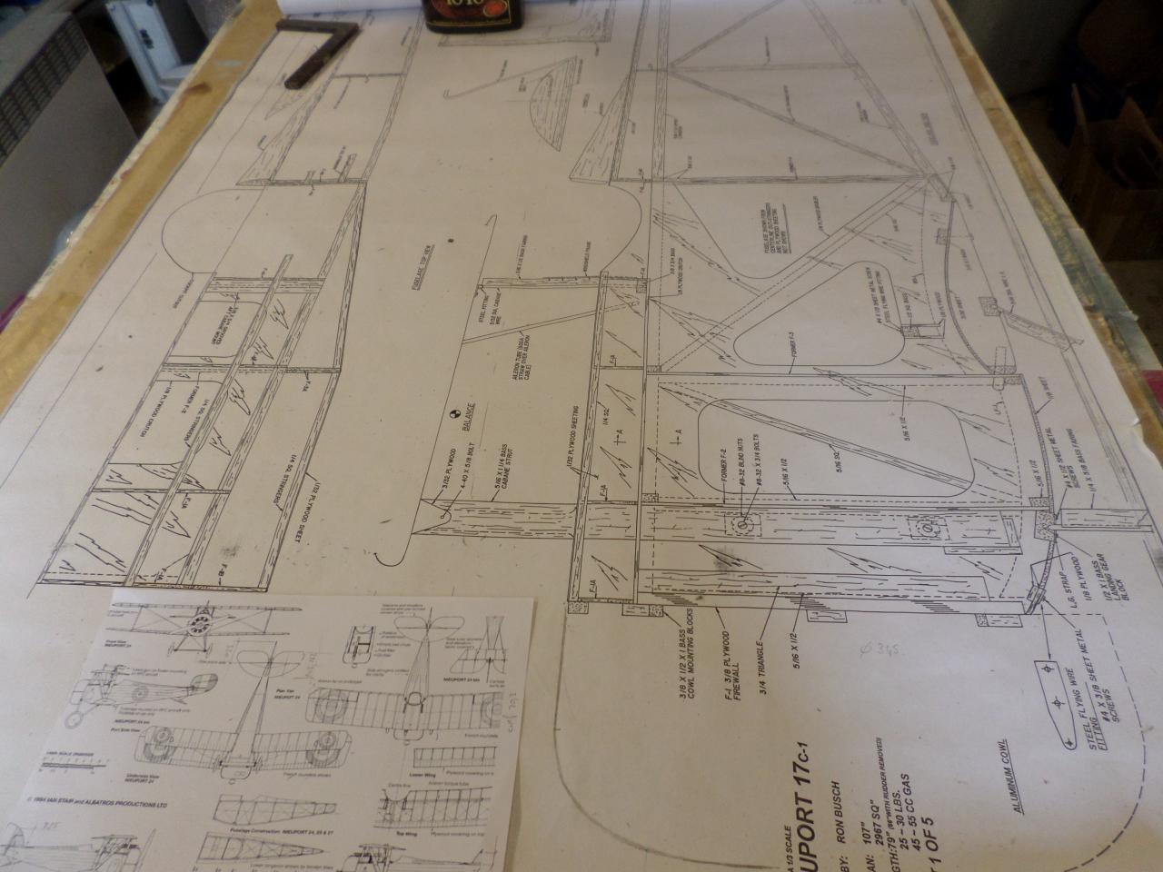 Plan du N17  de chez  balsa USA / envergure 2,75m