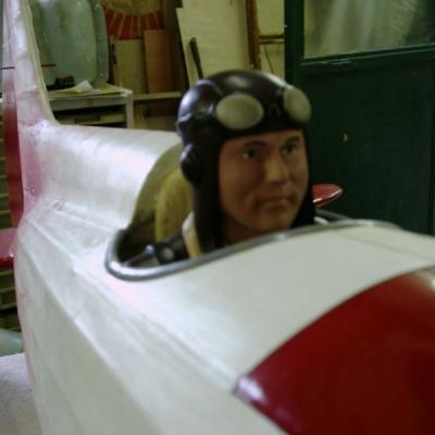Buste pilote  rétro au 1/3 en place